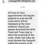 No face to face appointments in the UK unless you download the NHS Track and Trace App? You know what comes next. No appointments without the vaccine.